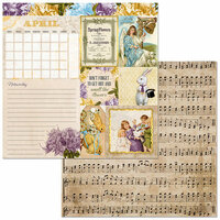 BoBunny - Banner Year Collection - 12 x 12 Double Sided Paper - April