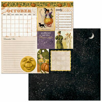 BoBunny - Banner Year Collection - Halloween - 12 x 12 Double Sided Paper - October
