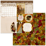 BoBunny - Banner Year Collection - 12 x 12 Double Sided Paper - November