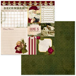 BoBunny - Banner Year Collection - Christmas - 12 x 12 Double Sided Paper - December