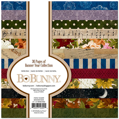 BoBunny - Banner Year Collection - 6 x 6 Paper Pad