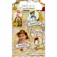 BoBunny - Banner Year Collection - Layered Chipboard Stickers