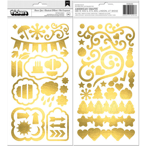 BoBunny - Banner Year Collection - Thickers - Gold Foil