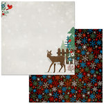 BoBunny - Winter Getaway Collection - 12 x 12 Double Sided Paper - Winter Getaway