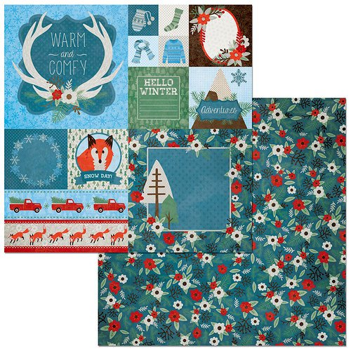 BoBunny - Winter Getaway Collection - 12 x 12 Double Sided Paper - Branches