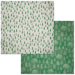 BoBunny - Winter Getaway Collection - 12 x 12 Double Sided Paper - Evergreen