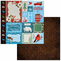 BoBunny - Winter Getaway Collection - 12 x 12 Double Sided Paper - Retreat