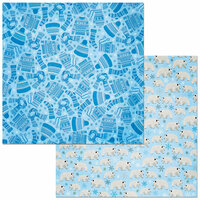 BoBunny - Winter Getaway Collection - 12 x 12 Double Sided Paper - Scarf