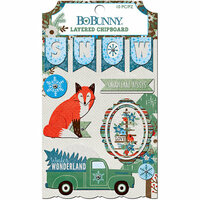 BoBunny - Winter Getaway Collection - Layered Chipboard Stickers