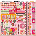 Bo Bunny - Sweet Clementine Collection - 12 x 12 Cardstock Stickers - Combo