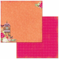 Bo Bunny - Sweet Clementine Collection - 12 x 12 Double Sided Paper - Sweet Clementine