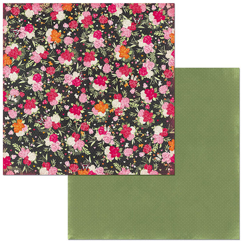 Bo Bunny - Sweet Clementine Collection - 12 x 12 Double Sided Paper - Bouquet