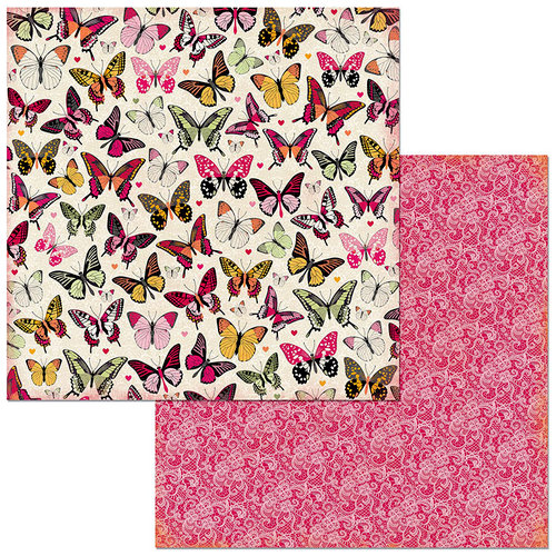 Bo Bunny - Sweet Clementine Collection - 12 x 12 Double Sided Paper - Butterflies
