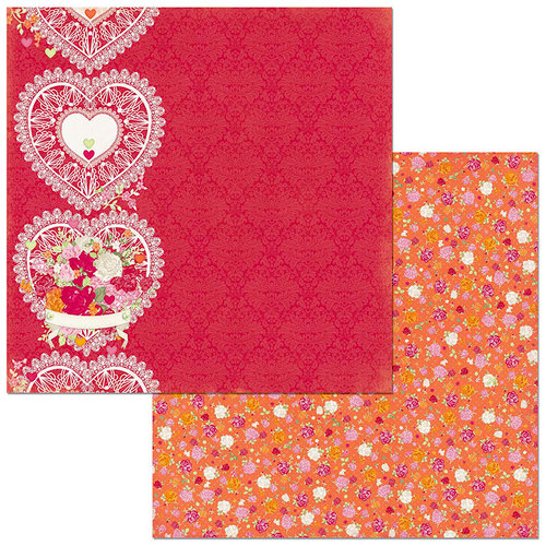Bo Bunny - Sweet Clementine Collection - 12 x 12 Double Sided Paper - Delight