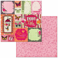 Bo Bunny - Sweet Clementine Collection - 12 x 12 Double Sided Paper - Enjoy