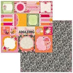 Bo Bunny - Sweet Clementine Collection - 12 x 12 Double Sided Paper - Memories