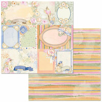 Bo Bunny - Harmony Collection - 12 x 12 Double Sided Paper - Dragonflies