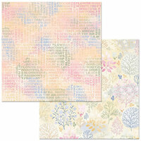 Bo Bunny - Harmony Collection - 12 x 12 Double Sided Paper - Fragrant