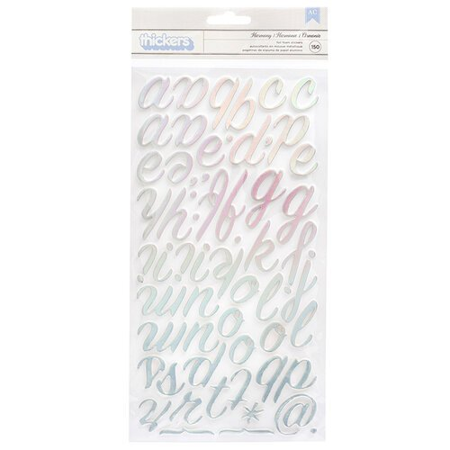 Bo Bunny - Harmony Collection - Thickers - Foam - Foil - Alpha