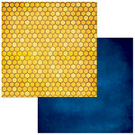Bo Bunny - Bee-utiful You Collection - 12 x 12 Double Sided Paper - Honeycomb