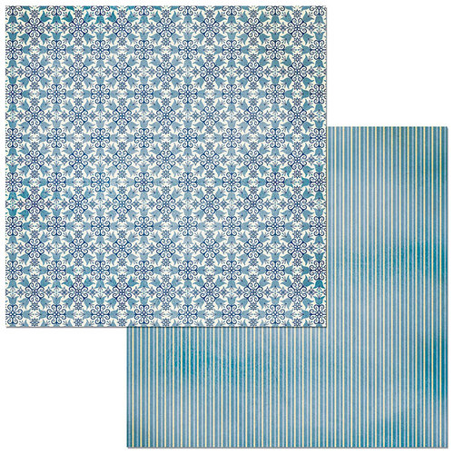 Bo Bunny - Bee-utiful You Collection - 12 x 12 Double Sided Paper - Regal