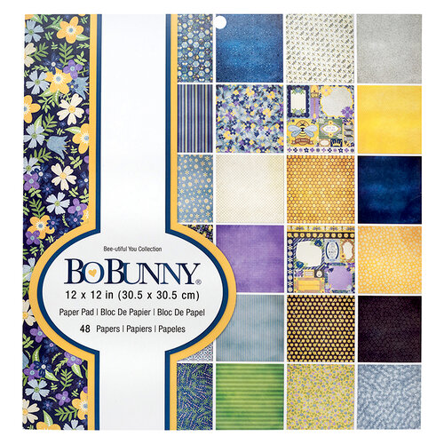Bo Bunny - Bee-utiful You Collection - 12 x 12 Paper Pad