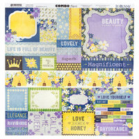 Bo Bunny - Bee-utiful You Collection - 12 x 12 Cardstock Stickers - Combo