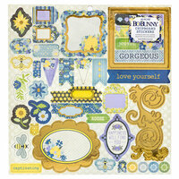 BoBunny - Bee-utiful You Collection - 12 x 12 Chipboard Stickers with Foil Accents
