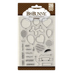 BoBunny - Clear Acrylic Stamps - Balloon Party