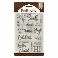 BoBunny - Clear Acrylic Stamps - Friendly Greetings