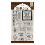 BoBunny - Clear Acrylic Stamps - Gratitude