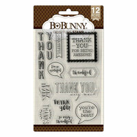 BoBunny - Clear Acrylic Stamps - Gratitude