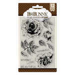 BoBunny - Clear Acrylic Stamps - Rose Garden