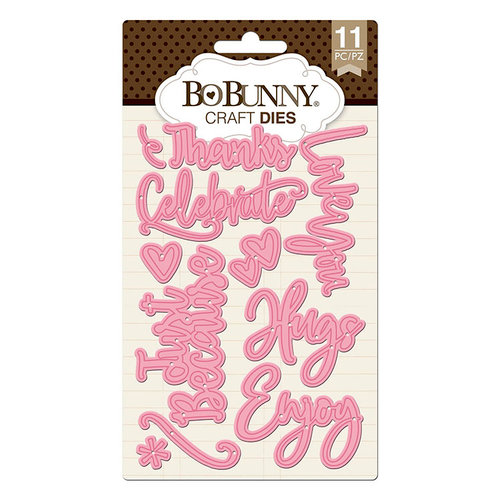 BoBunny - Craft Dies - All Occasion Sentiments