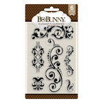 BoBunny - Butterfly Kisses Collection - Clear Acrylic Stamps - Elegant Flourishes