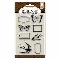 BoBunny - Secret Garden Collection - Clear Acrylic Stamps - Take Flight