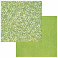 BoBunny - Bee-utiful You Collection - 12 x 12 Double Sided Paper - Double Dot - Lace - Avocado