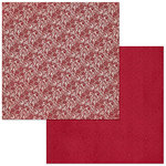 BoBunny - Double Dot Designs Collection - 12 x 12 Double Sided Paper - Lace - Cranberry