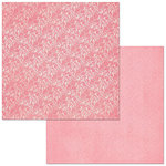 BoBunny - Double Dot Designs Collection - 12 x 12 Double Sided Paper - Lace - Flamingo