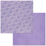 Bo Bunny - Bee-utiful You Collection - 12 x 12 Double Sided Paper - Double Dot - Lace - Lavender