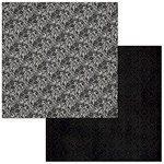 BoBunny - Double Dot Designs Collection - 12 x 12 Double Sided Paper - Lace - Licorice