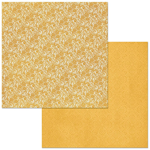 BoBunny - Double Dot Designs Collection - 12 x 12 Double Sided Paper - Lace - Maize