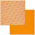 Bo Bunny - Sweet Clementine Collection - 12 x 12 Double Sided Paper - Double Dot - Lace - Pumpkin