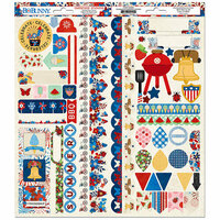 BoBunny - Celebrating Freedom Collection - Cardstock Stickers