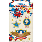 BoBunny - Celebrating Freedom Collection - Layered Chipboard Stickers with Glitter Accents