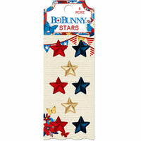 BoBunny - Celebrating Freedom Collection - Self-Adhesive - Resin Stars