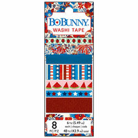 BoBunny - Celebrating Freedom Collection - Washi Tape with Metallic and Glitter Accents