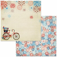 BoBunny - Celebrating Freedom Collection - 12 x 12 Double Sided Paper - Celebrating Freedom