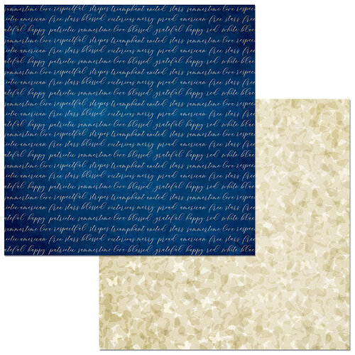 BoBunny - Celebrating Freedom Collection - 12 x 12 Double Sided Paper - Constitution