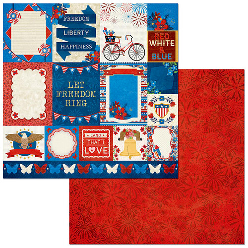 BoBunny - Celebrating Freedom Collection - 12 x 12 Double Sided Paper - Patriotic